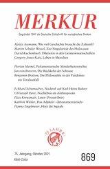 MERKUR Gegründet 1947 als Deutsche Zeitschrift für europäisches Denken - 2021-10 (eBook, ePUB)