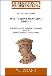 M. Fabi Quintiliani Institutionis oratoriae liber IX