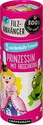 Filzanhänger: Kleine Prinzessin mit Froschkönig