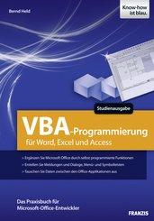 VBA-Programmierung für Word, Excel und Access (eBook, PDF)