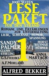 Lese-Paket 1 für den Strand: Romane und Erzählungen zur Unterhaltung: 1000 Seiten Liebe, Schicksal, Humor, Spannung (eBook, ePUB)