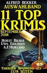 Auswahlband 11 Top-Krimis Herbst 2018 - Thriller Spannung auf 1378 Seiten (eBook, ePUB)