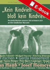 Kein Rindvieh - bloß kein Rindvieh (eBook, ePUB)