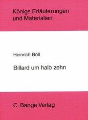 Billard um halb 10 von Heinrich Böll. Textanalyse und Interpretation. (eBook, PDF)