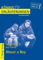 About a Boy von Nick Hornby. Textanalyse und Interpretation. (eBook, PDF)