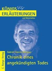Chronik eines angekündigten Todes von Gabriel García Márquez. Textanalyse und Interpretation. (eBook, PDF)