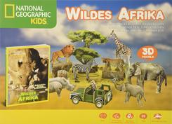 Wildes Afrika- National Geographic Kids (3D Puzzle Box mit Buch)