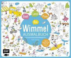 Das Wimmel-Ausmalbuch - Stadt, Land, Fluss