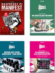 PC & Elektronik Buchpaket - Maker, Arduino™, Raspberry Pi, LEGO®, Fischertechnik®, PLAYMOBIL® (4 Bücher)