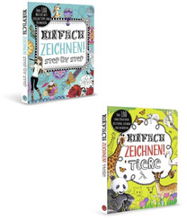 Kreativ Paket - Einfach zeichnen lernen (2 Bücher)