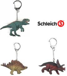 Schleich Paket - Dinosaurier Schlüsselanhänger (4 Figuren)