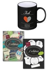 Bücher-Liebe Paket: Tasse + Aufkleber (3 Artikel)